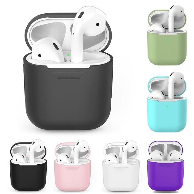 1451a27114416 € 1.43 25% de réduction|Étui pour écouteurs sans fil TPU Silicone Bluetooth  pour AirPods 1 housse de protection accessoires de peau pour Apple ...