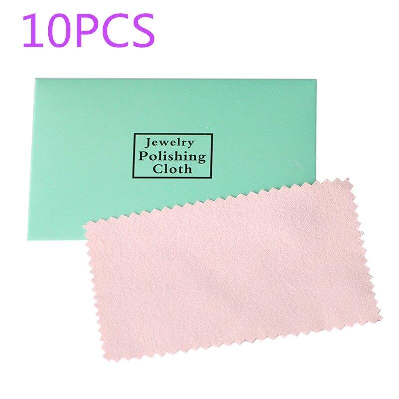10Pcs Polishing Jewelry Cloth Silver Polish Tool New Home Supply Random Clean Anti-tarnish Cleaning Cloth Beauty Decor