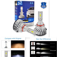 led white LED Car Headlight car bulb H4 H7 H8 H9 H11 HB2 HB3 HB4 9003 9005 9006 3000LM 6500K High Low Beam Bulbs led Super White (1)