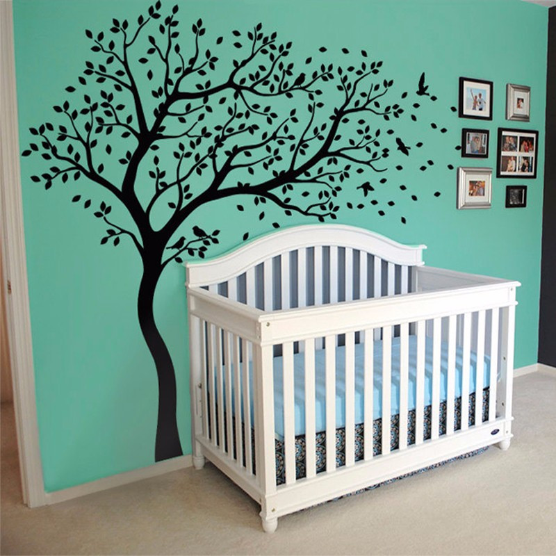 Nouveau grand arbre de pépinière Stickers Muraux décoration murale autocollant Mural pour enfants Vinilo Stickers Muraux pour enfants chambres Muraux décor à la maison