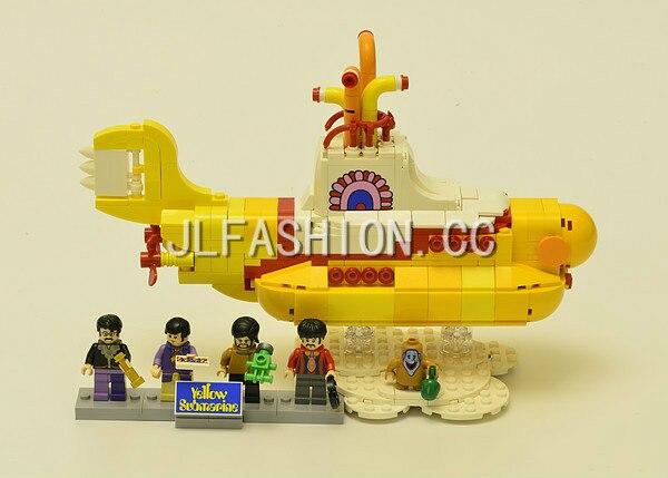 2017 21012 New 553Pcs The beatles yellow submarine Building Blcoks Bricks Toys compatible 21306 bricks
