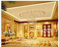 3d murals wallpaper custom  Sandstone reliefs european-style luxury high-grade frescoes on the ceiling wallpaper