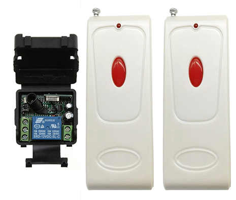500 м дальность DC12V 24 V 1CH RF Беспроводной дистанционного Управление реле безопасности Системы гаражные ворота электрические двери лампы