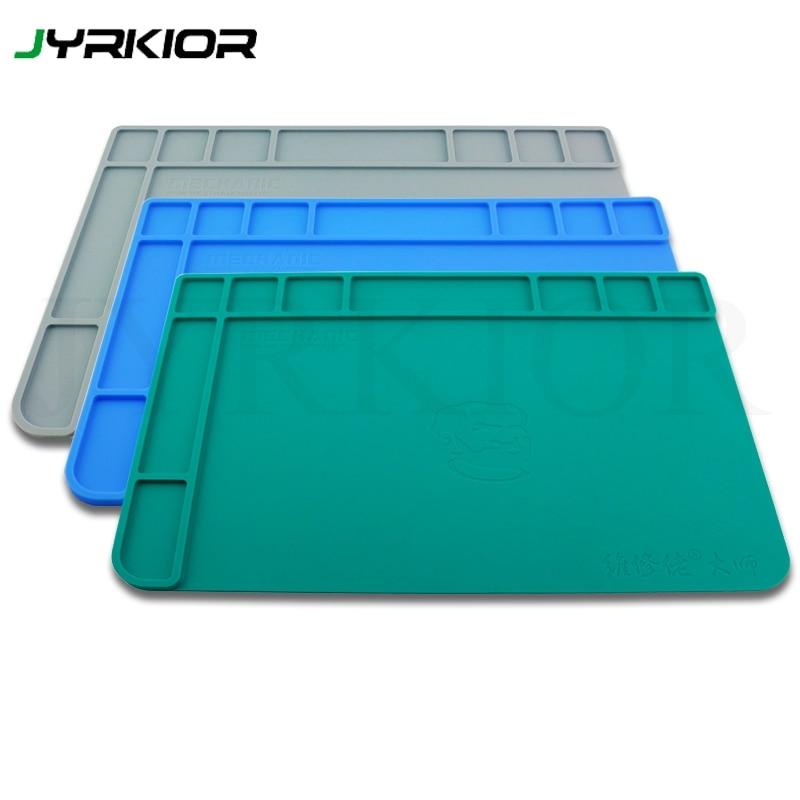 Jyrkior 475*335*9 мм мастер-класс теплоизоляция рабочий матовый силиконовый коврик для паяльника, теплового пистолета, паяльной станции платформы