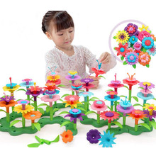 98PCS Build-a-Bouquet Floral Arrangement Playset - BPA &Phthalates Free, Creative Flower Gargening Block Play Toy for Kids