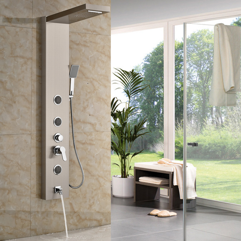 Multiple Types Best Quality Bathroom Shower Panel with Hand Shower ...