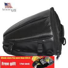 Fast deliver FedEx Warterproof Motorcycle Tank Bags Multifunction Luggage Universal Motorbike Oil Fuel Bags Seat Tail Pack(China)