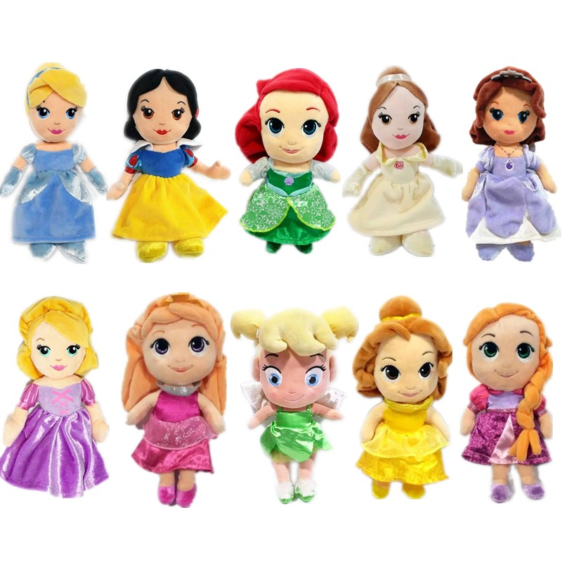 1pieces/lot small Q version 20cm plush rapunzel Ariel Bell Cinderella Aurora Sofia Snow white doll collective edition toy  1pieces/lot small Q version 20cm plush rapunzel Ariel Bell Cinderella Aurora Sofia Snow white doll collective edition toy