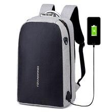 Laptop Backpack Mochila School-Bag Usb-Charging Travel Large-Capacity Waterproof Student