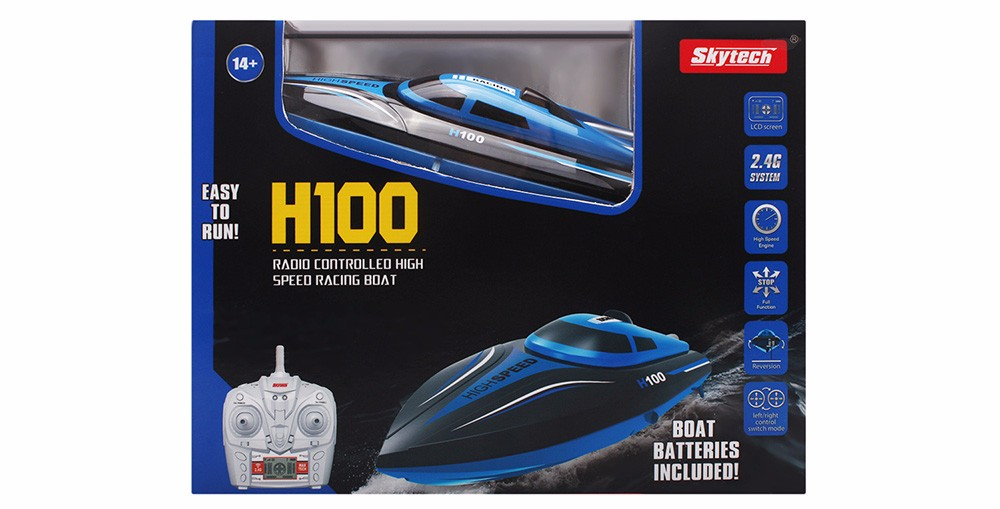 Skytech H100 RC Boat 2.4GHz 4 Channel 30kmh Racing Remote Control Boat (5)
