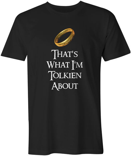 Lord Of The Rings LOTR Frodo Geek Funny Novelty Mens T-Shirt - Tolkien About
