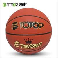PTOTOP PU Lederen Basketbal Officiële Maat 7 Indoor Outdoor Mannen Vrouwen slijtvaste Basketbal Bal Apparatuur Sport Gratis Schip