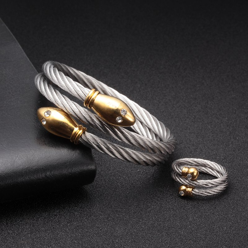 Luxury Brand Snake Chain Link Charm Bracelets Women Fashion Jewelry Stainless Steel female Sporty Wrap Bracelet femme