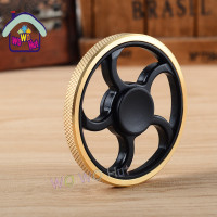 2017 New EDC Tri Spinner Fidget Toys Pattern Hand Spinner Metal Fidget Spinner And ADHD Adults