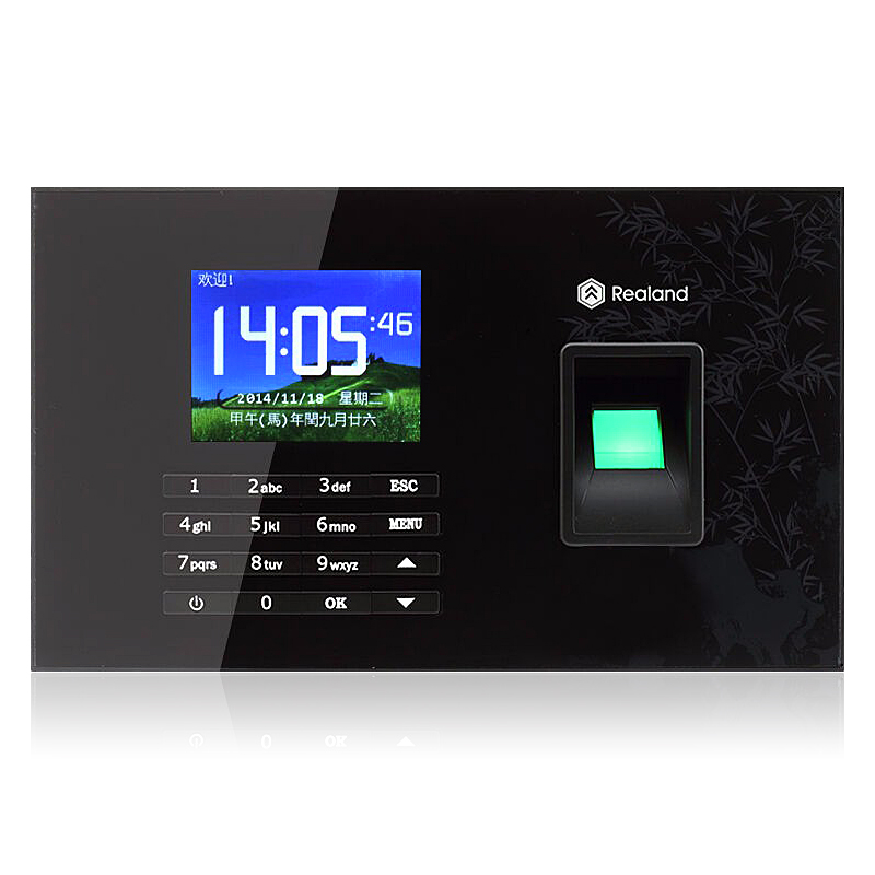 Fingerprint biometric time attendance machine fingerprint scanner with 2.8 inch TFT screen for security door lock system on sale usb password biometric fingerprint time attendance machine fingerprint lock system with free software a6 model
