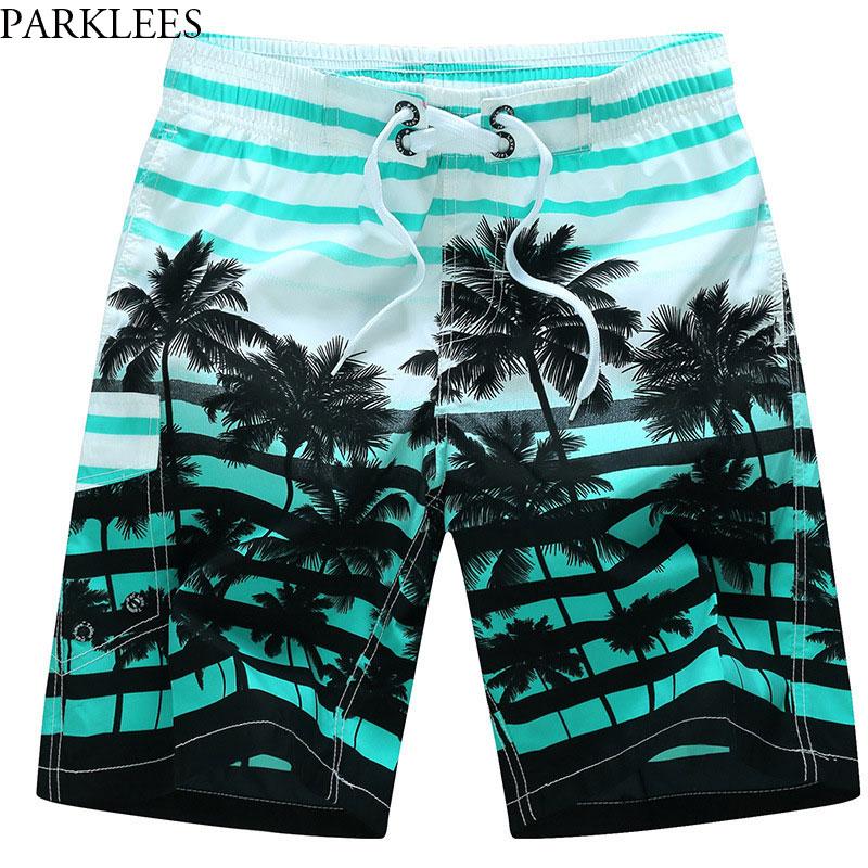 2018 Summer Hote Sale Mens Beach   Board     Shorts   Trunks 3D Palm Tree Fashion Print   Shorts   Homme Casual Quick Dry Mesh Beachwear 6XL