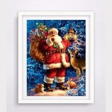 Diamond Embroidery 5D Diy Painting Christmas Santa Claus Cross Stitch Rhinestone Mosaic RS2025