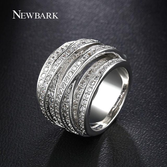 NEWBARK Top New Antique Mosaic AAA Zircon Crystal Multilayer Vintage Silver Colo