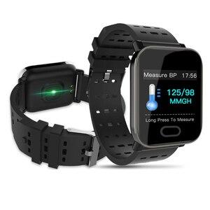 Image 1 - Reloj inteligente bluetooth bip smartwatch hombre relogio relojes นาฬิกาดิจิตอล Heart rate การตรวจสอบ smart watch ข้อความจอแสดงผล Q9