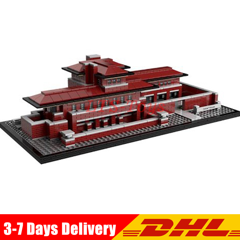 IN STOCK LEPIN 17007 2326Pcs Architecture Series The Robie House Set Building Blocks Bricks Toys Model Compatible Legoed 21010 цена