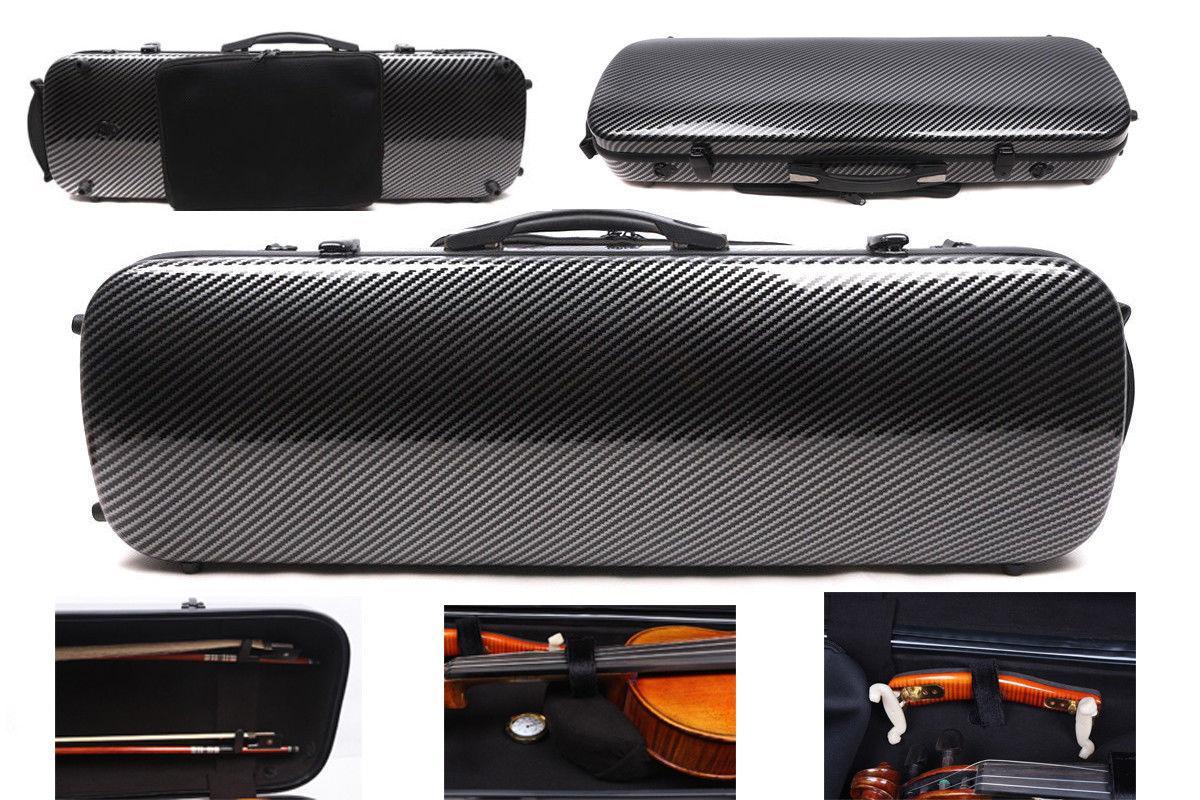 4/4 Violin Case Mixed Carbon Fiber Hard Case Light 2.1kg Music Sheet Bag