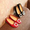 Девочек мода обувь осень дети девушки обувь одного горный хрусталь принцесса обувь ИСКУССТВЕННАЯ кожа производительность обувь мягкая подошва