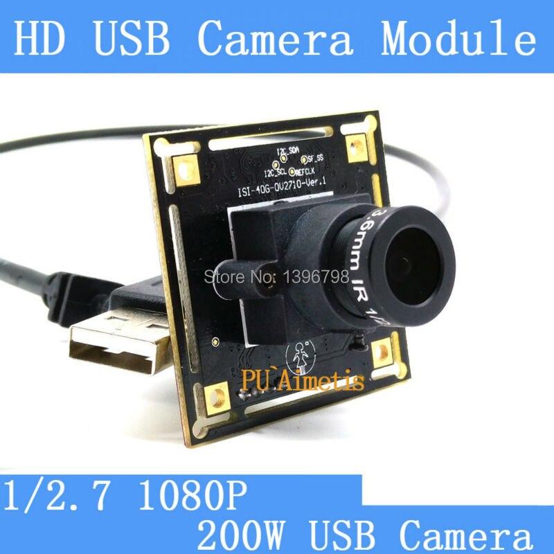 imágenes para Cámara de vigilancia 1080 p Full Hd 30fps de Alta Velocidad del CMOS OV2710 MJPEG CCTV Mini Android Linux UVC Webcam USB de La Cámara módulo