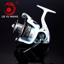 LIEYUWANG Brand Lure Reel  HC 13+1BB Spinning Fishing Reel Carretilha Carp Fishing Feeder Reel Rod Combo
