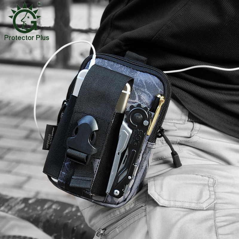 Tactical Molle Pouch EDC Utility Gadget Belt Waist Bag Camping Hiking Outdoor Gear Tool Organizer Cell Phone Holster Holde D30