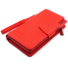 Capacity lady clutch wallets purse wholesale wallet gift brand leather high