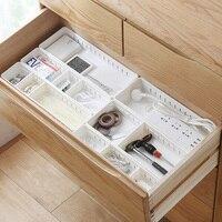 AILA Plastic Partition Wall Desktop Drawer Storage Box Kitchen Simple Separation Box Classification Sorting Box