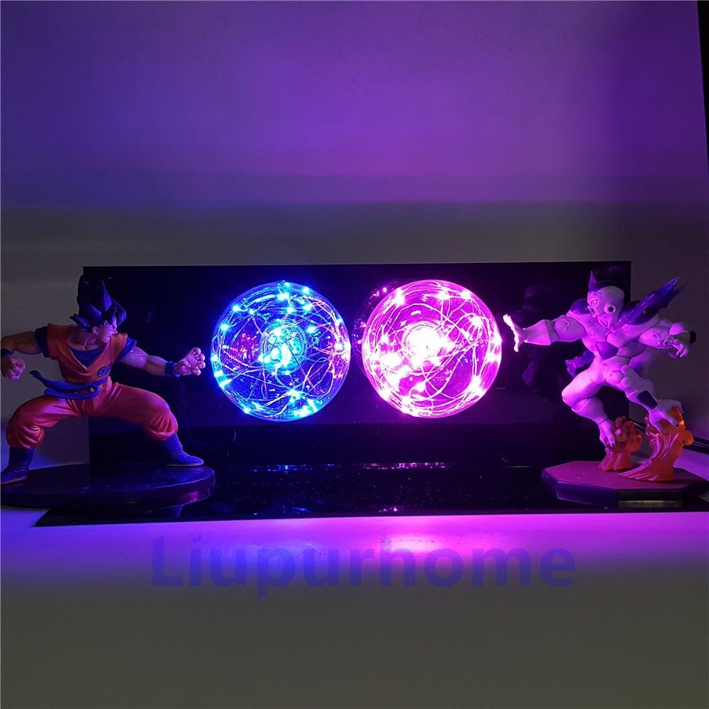 Dragon Ball Z Son Goku VS Freezer Lamparas LED Luci notturne anime Dragon Ball Super Figurine Giocattoli Per Bambini Dbz FAI DA TE LUCE lampada da tavolo - 3