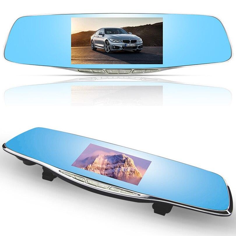 Car Rearview Mirror Camera Full Hd 1080p Car Dvr Dual Lens Parking Video Recorder