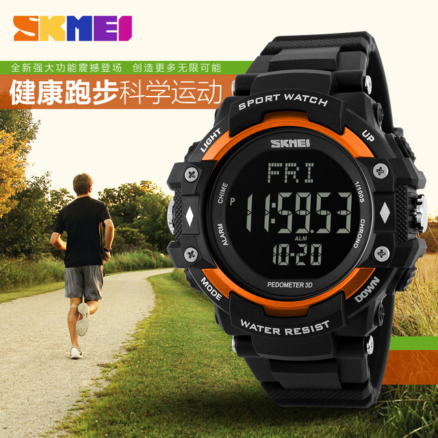 Health Sport Men Wristwatch 3D Pedometer Heart Rate Monitor Calories Counter Fitness Tracker LED Digital Outdoor Sports Watches
