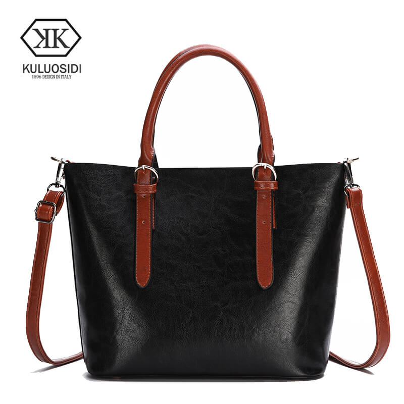 KULUOSIDI Vintage Casual Tote Top Handle Bag Handbags Women Famous Brands Solid Women Messenger Bags Big Capacity Female HandbagKULUOSIDI Vintage Casual Tote Top Handle Bag Handbags Women Famous Brands Solid Women Messenger Bags Big Capacity Female Handbag