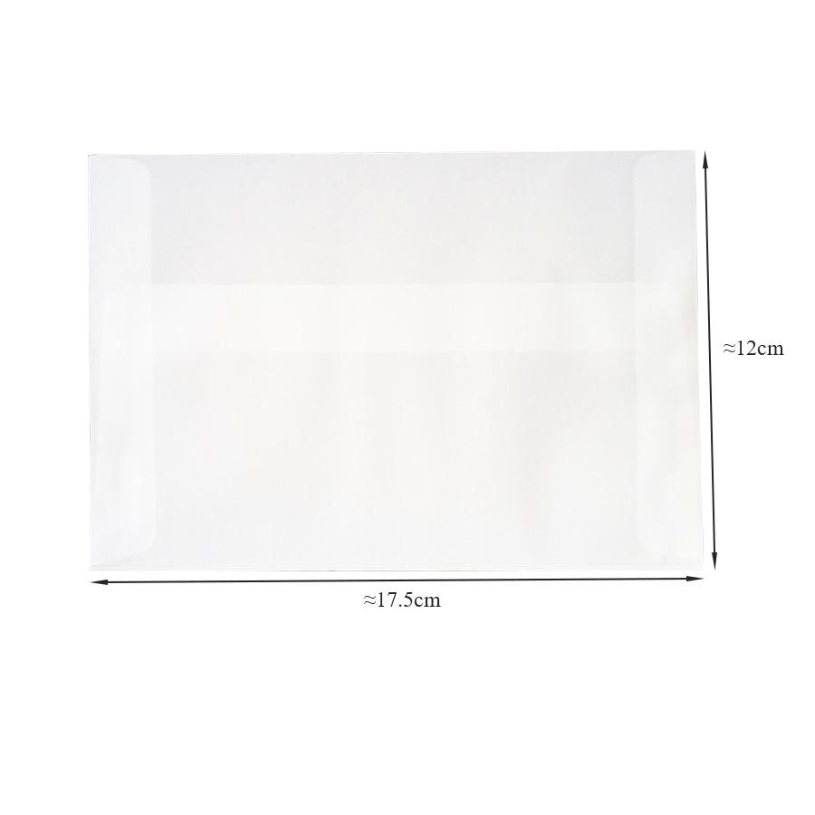 100pcs/lot Blank Translucent vellum envelopes DIY Multifunction Gift card envelope with seal sticker for wedding birthday 4