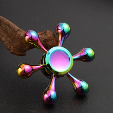 Colorful Hand Spinner EDC Zinc Alloy Fidget Hand Spinners Autism ADHD Kids Finger Toys Spinners Focus Relieves Stress Adhd E silver black finger spinner fidget edc hand for autism adhd anxiety stress relief focus toys gift 2017 hot selling