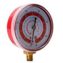 Air Conditioner R410A R134A R22 Refrigerant High Pressure Gauge PSI KPA Red 828 Promotion(China)