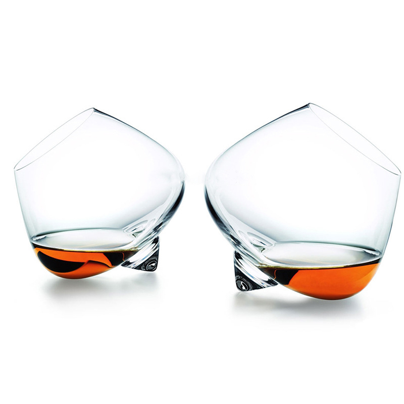 Rotate Whiskey Glass Top Belly Cigar Whiskey Cocktail Drinking Wine Cup Tumbler Bottom Bar Glasses Vaso Gafas Caneca Brandy