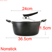 3 pieces set New style stick frying pan flat bottom Soup pot non-stick fashion wheat rice stone iron kitchen ware cookware tools