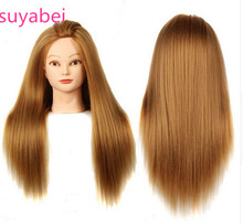Golden Wig head Professional Blonde hairdressing dolls Female Mannequin Hairdressing Styling Training Head