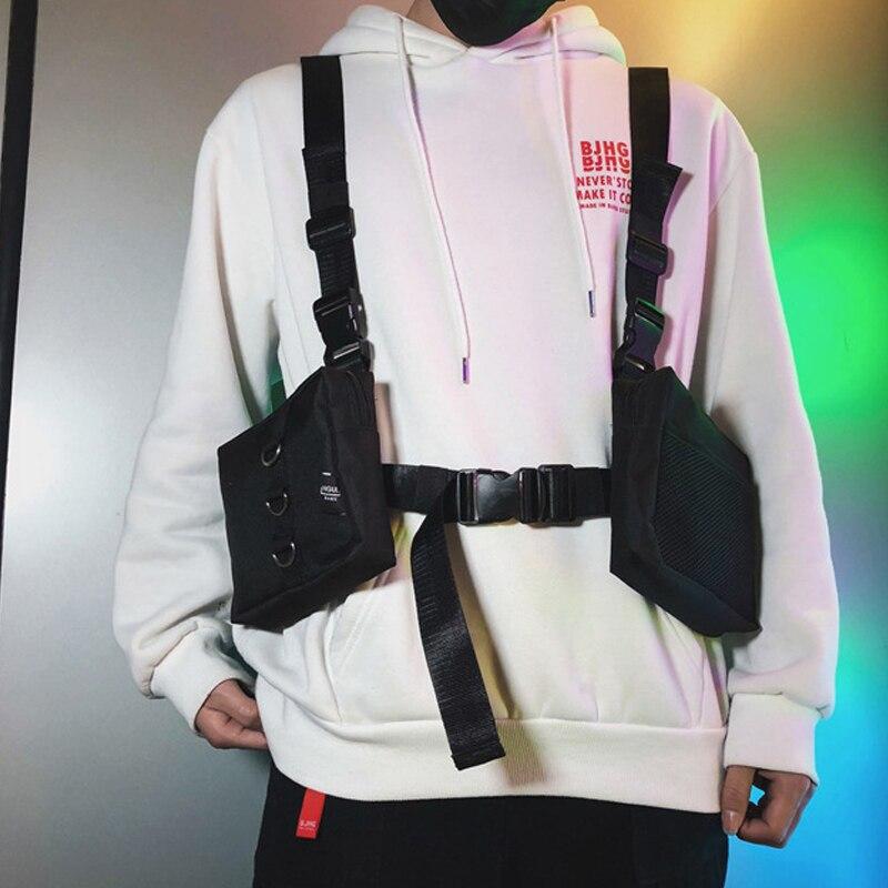 Men Tactical Double Swat Bag Chest Rig Bag Adjustable Waistcoat Kanye West Hip Hop Streetwear Men Functional Waist Packs Bag Waist Packs Aliexpress