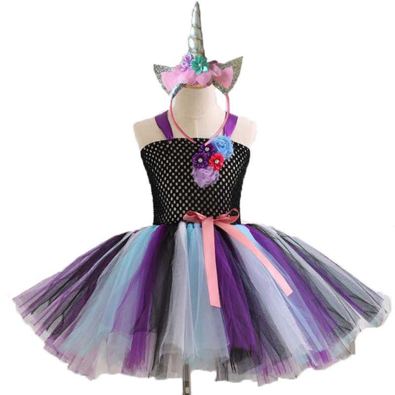 88209efafe7cd My Baby Girls pony Halloween Cosplay Dress Children little Pony Dresses  Cartoon Vestidos Costume Kids Clothes Summer Clothing