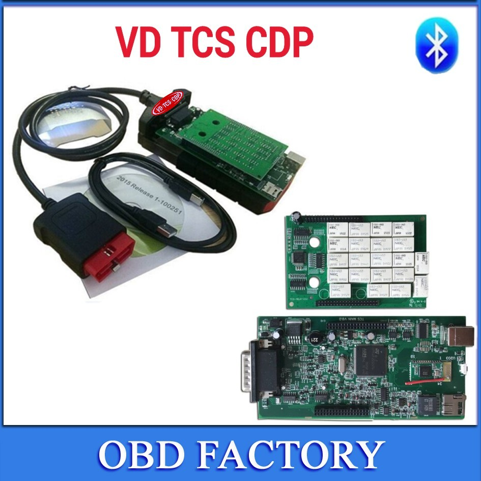 Prix pour Date [VD TCS CDP] duoble vert pcb nec relais Bluetooth 2015 R3/2014R3 avec keygen nouveaux VD TCS cdp pro plus