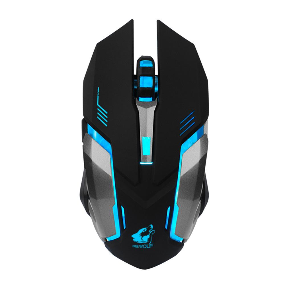 Rechargeable Wireless Silent LED Backlit USB Optical Ergonomic Gaming Mouse AA