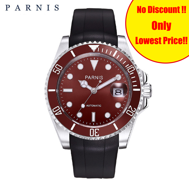 Parnis 40mm Luxury BrandTop Man Rotating Ceramic Bezel Stainless Steel Band Mens Watches Fashion Automatic Mechanical Men WatchParnis 40mm Luxury BrandTop Man Rotating Ceramic Bezel Stainless Steel Band Mens Watches Fashion Automatic Mechanical Men Watch