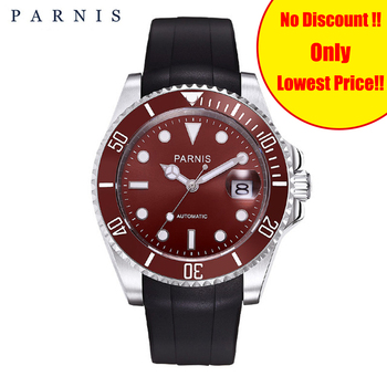 Parnis 40mm Luxury BrandTop Man Rotating Ceramic Bezel Stainless Steel Band Men's Watches Fashion Automatic Mechanical Men Watch