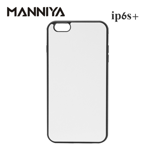 info for df325 66a38 US $16.5 |MANNIYA for iphone 6 plus 6s plus Blank 2D Sublimation black  rubber TPU+PC Case with Aluminum Inserts and tape 10pcs/lot-in Fitted Cases  ...