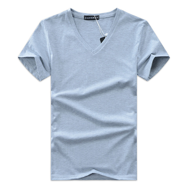 2017 summer Hot selling Men V neck t shirt cotton short sleeve tops high quality Casual Men Slim Fit Classic Brand t shirts