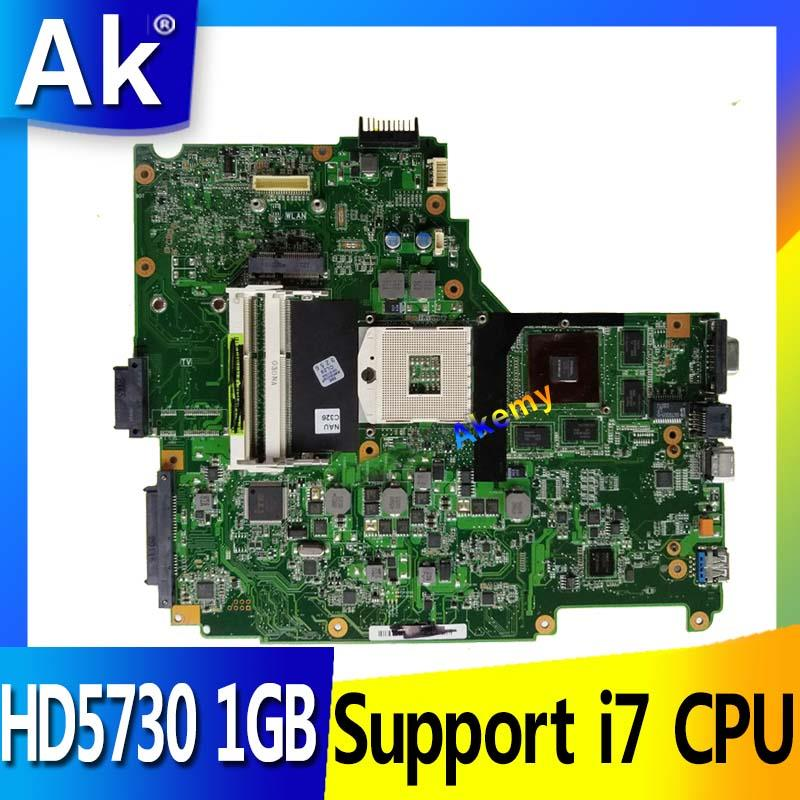 AK N61JQ Laptop Motherboard For ASUS N61J N61JA N61JQ Mainboard REV2.1 60-NY9MB1200-C03 Full Tested Support I7 CPU HD5730 1GB